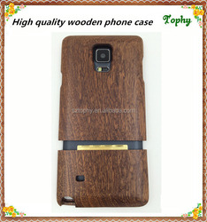 2 in1 Genuine walnut Wooden bamboo hard back cover Case For Samsung Galaxy note 4 5