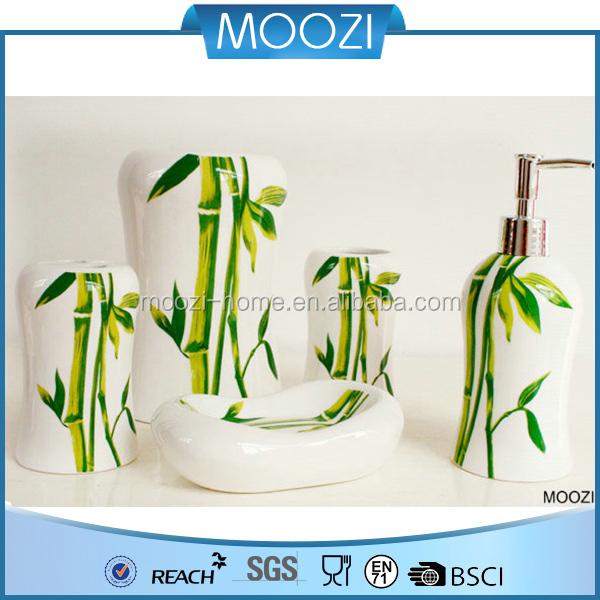 2015 chinois lgant motif de bambou cramique salle de bain accessoire set - Accessoire Salle De Bain Bambou