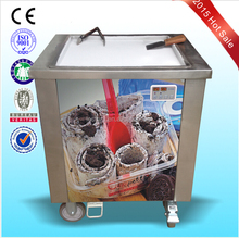 manual flat round pan fried/roll ice cream machine for sale/easy operation