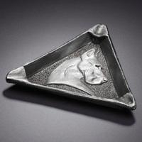 antique metal triangle ashtray, top quality ashtrays