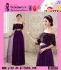 2015 Fashion Purple Sexy Short Sleeve Party Dress Hot Sale Alibaba High Quality Long Women's Evening Dress