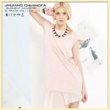 Irregular small waist dress