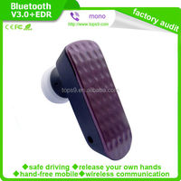 purple bluetooth v3.0 bluetooth headset with long distance operation range for cell phone