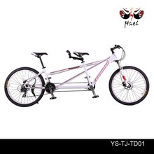 light aluminum alloy 6061 21S or 24S and fork with suspension tandem beach cruiser bike bicycle