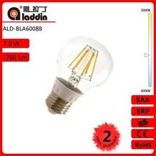 Alibaba express Jiangsu China A60 8W E27/E26/B22 LED filament lamp with CE and ROHS