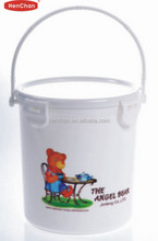 customized lock lid with handle round cookie container