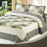2015 queen size cotton woven bedspreads and matching curtains