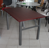 Heavy Duty Folding HPL Rectangle Buffet Table 8 seaters