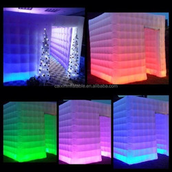 2015 LED inflatable cube booth/ inflatable cube photo booth/inflatable cube photo booth kiosk