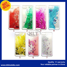 KLT- Transparent Quicksand Glitter Stars Bling Hard Back Case Cover for iphone 6 4.7""