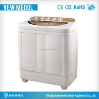 effevercy motor 10kgs golden style transparent cover twin-tub semi automatic washing machine
