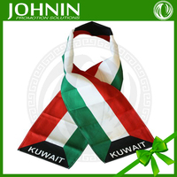 New product National Day promotional gift polyester Kuwait scarf