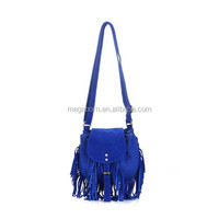 New Simple Design Tassel Fashion Leather Crossbody Small Canvas Bag