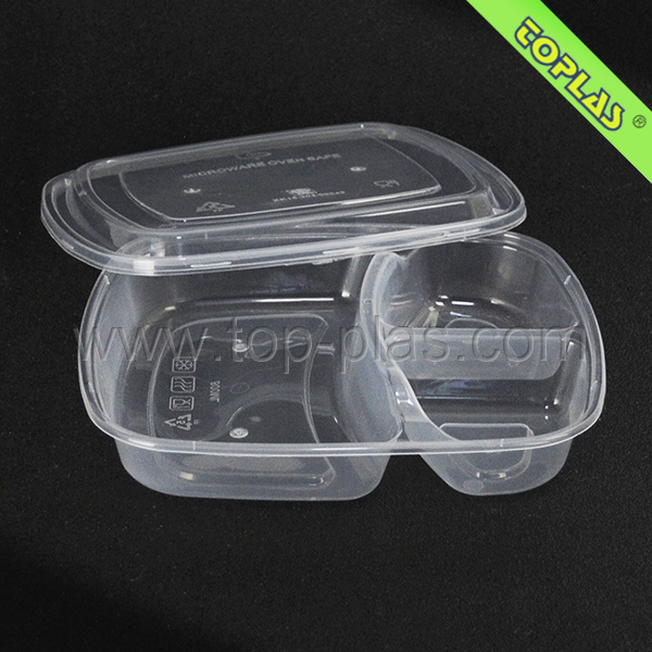 Plastic Food Container 3 Compartment Containers - Buy Plastic Food