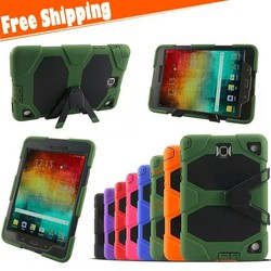For Samsung Galaxy Tab A 8.0 inch T350 Dust Shock Proof Rubber Heavy Duty Hard Tablet Case Cover with kickstand