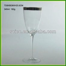 Gold Etching Wine Glass