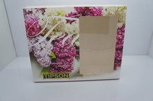 Customized paper gift box with clear pvc window