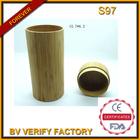 2014 da forma redonda de bambu caso óculos de compra em massa de chian