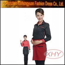 los uniformes de moda para los hoteles de cocinero para hotel