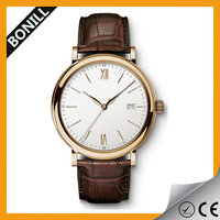 2015 minimalist fashion watch custom own brand stainless steel back japan movt quartz watch sr626sw