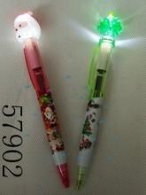 novelty stationery led pen christmas ballpen promotion pen 57902