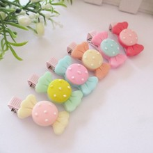 Customize high quality summer hairpins for kids girl hair accessories lovely hair clips summer style candy color hair clip