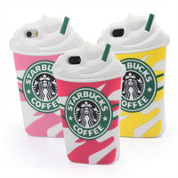 New Cute 3D Cartoon Case Cover Starbucks Unique Style soft Silicone Cover phone Case For iPhone 5 5S 5G