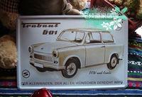 Painted tin export European style cafe bar restaurant retro brand Trabant