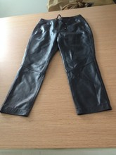 ladies new style black sheep leather pants