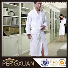 fashion 55*122cm plain mens bathrobe in solid royal plush