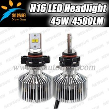 Factory supp led head light h16 auto car head lamp 45w 4500lumen per bulb 4pcs Phillips MZ led chips per bulbs