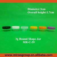 3g/ml Plasctic Cream Container Cosmetic Empty Jar Pot Eyeshadow Makeup Face Containers Bottle