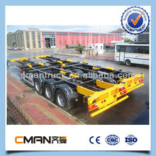 mini length 9m and max length 12.2m 3 axle Container chasis