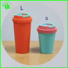 BPA FREE Double Wall Coffee Plastic Tumbler