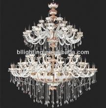 Hotel lobby large decorative chandelier