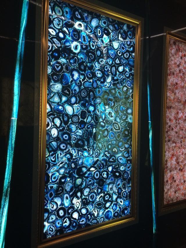 Blue Onyx Marble : Blue agate translucent onyx backlit slab semi precious
