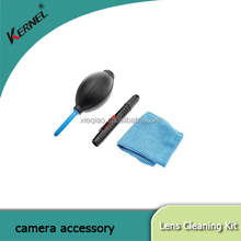 Kernel 3 in 1 Lens Cleaning Cleaner Dust Pen Blower Cloth Kit for DSLR VCR Camera Canon