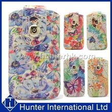 Floral Design Flip Leather Sleeve Bag For Samsung S5
