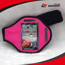 Sports Gym Bike Cycle Jogging Armband, with Dual Arm-Size Slots and Key Pocket Custom Made for iPhone