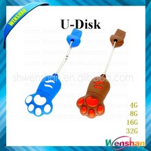 Lovely Creative Dog footprint Cat paw 4GB USB Flash Drive Memory disk