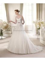 Fairy-tale Ball Gown Tank Top Chapel Train Ivory Wedding Dress