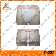 feminine hygiene disposable free size Ladies G-string,35G PP Sex g-string panty for Spray tanning
