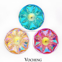 Wholesale 20PCS/Lot Vocheng 18mm Acrylic Snap Charm 6 Colors Snap Button Jewelry (Vn-719*20) Free Shipping