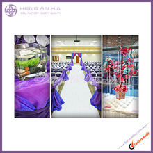 2014 Newest fashion Violet Satin Chair Cover Shiny Chair Sash