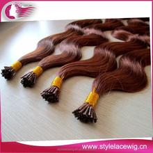 keratin i tip brazilian pre-bond hair extension wholesale stick tape hair