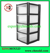 Excellent quality 4 drawers plastic storage box mould in Taizhou