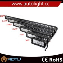 Waterproof Off road bar led light 36W 72W 120W 180W 240W 288W 300W led light bar for car