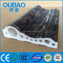 wall decorative faux marble PVC skirting picture frame wood moulding