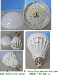 CE RoHS SMD5630 E27 led plastic bulb accessories led lamp housing with 3W-48W