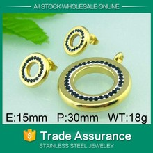 2015 round jewelry set dubai 18 carat gold jewelry sets for ladies